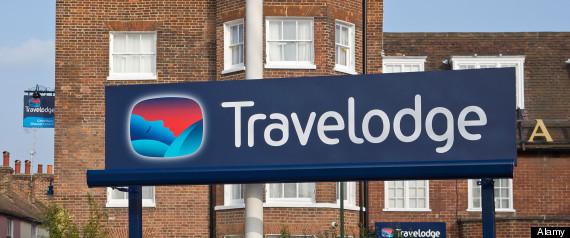 Travelodge Sign Chaucer Hotel Canterbury Kent UK