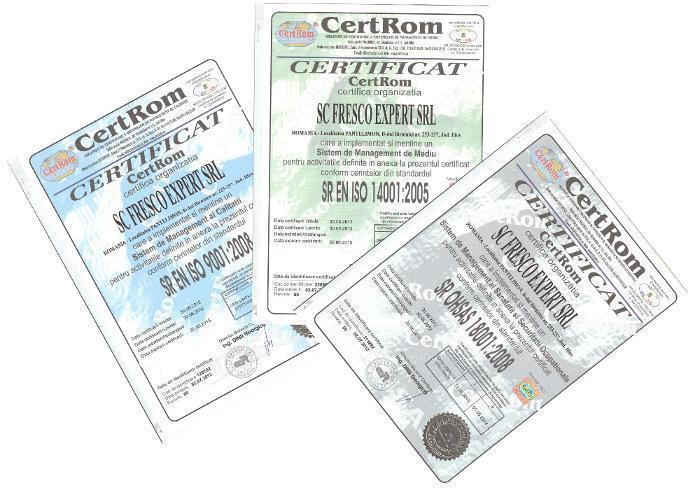 certificare iso hotel certificare iso dotari hoteliere certificare iso aparatura de bucatarie