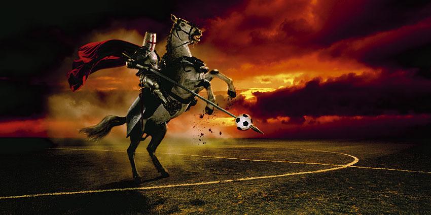 fotbalul si cavalerul