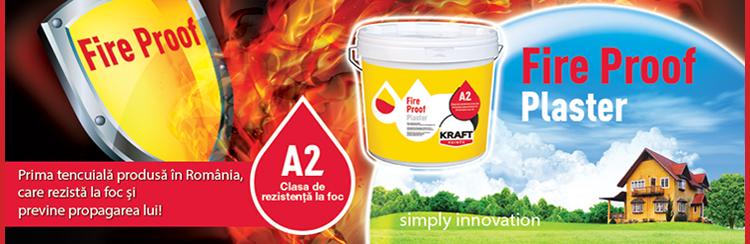 Tencuiala Decorativa Kraft.Kraft Fire Proof Prima Tencuiala Rezistenta La Foc Produsa In